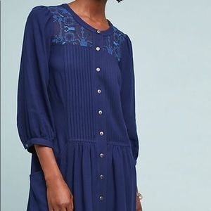 Anthropologie Dubois Embroidered Tunic Dress